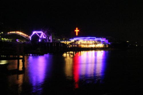浜名湖から見たライブチャーチ